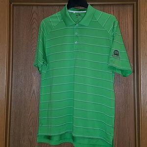 Adidas green striped golf short